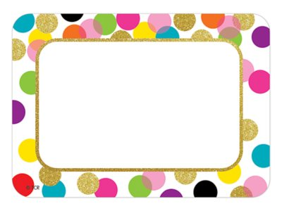 graphic relating to Printable Name Tags named Confetti Status Tags